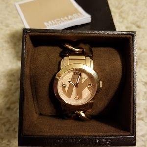Michael Kors Rose Gold/Tortoise Bracelet Watch